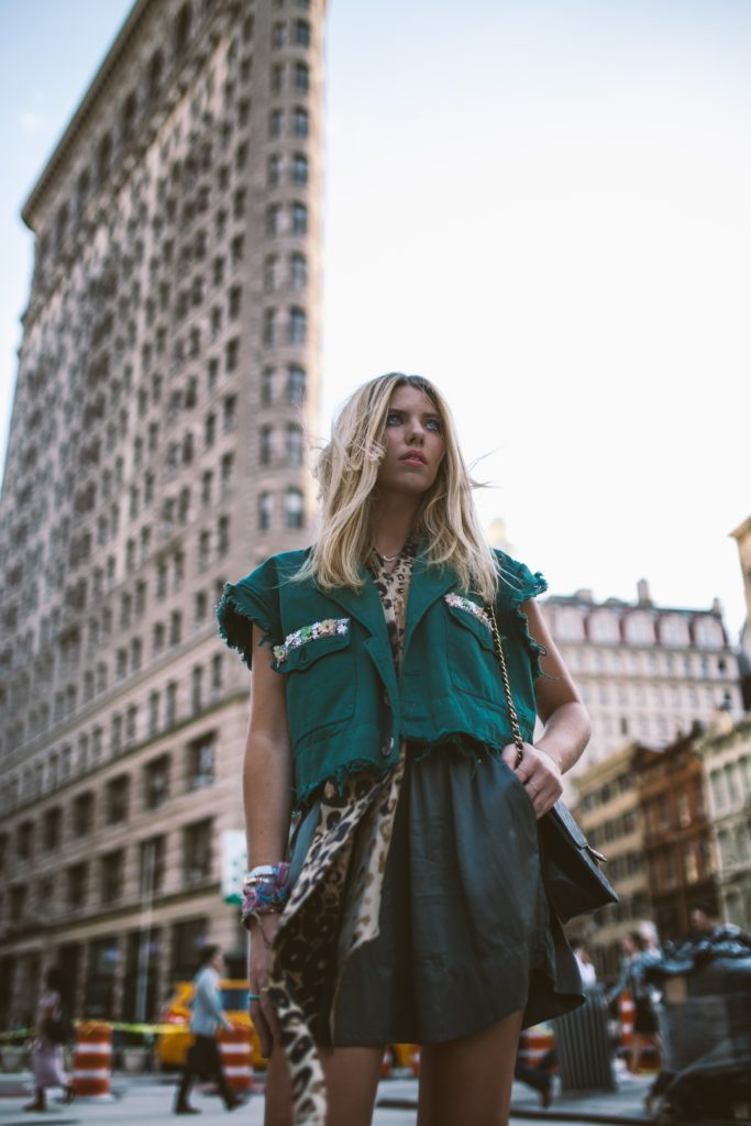 girl at one of the fashion capitals, New York