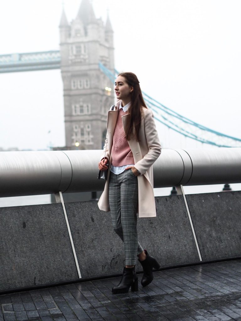 girl at one of the fashion capitals, London