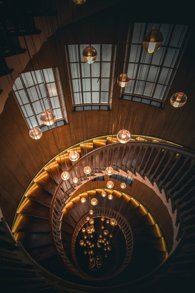 Staircase that illustrates the beauty of the golden ratio.