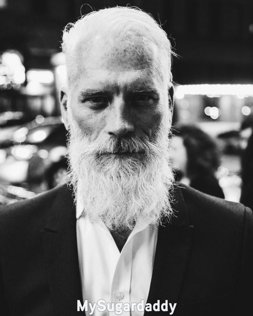 attractive older man in suit