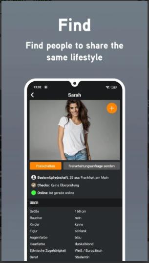 screenshot from the my sugar daddy app