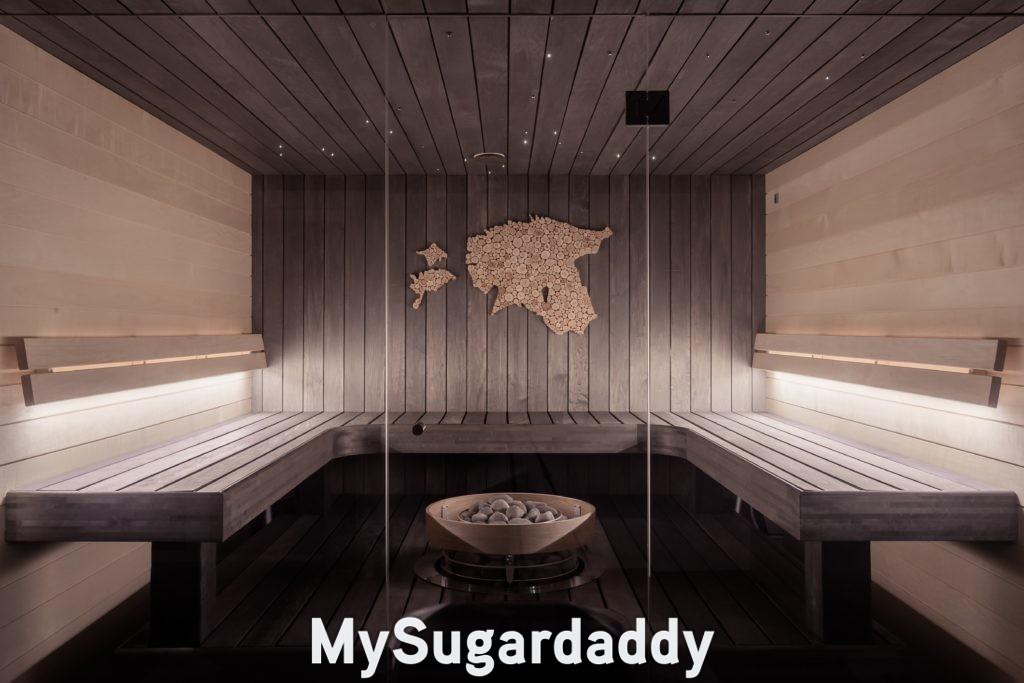 luxurious empty sauna