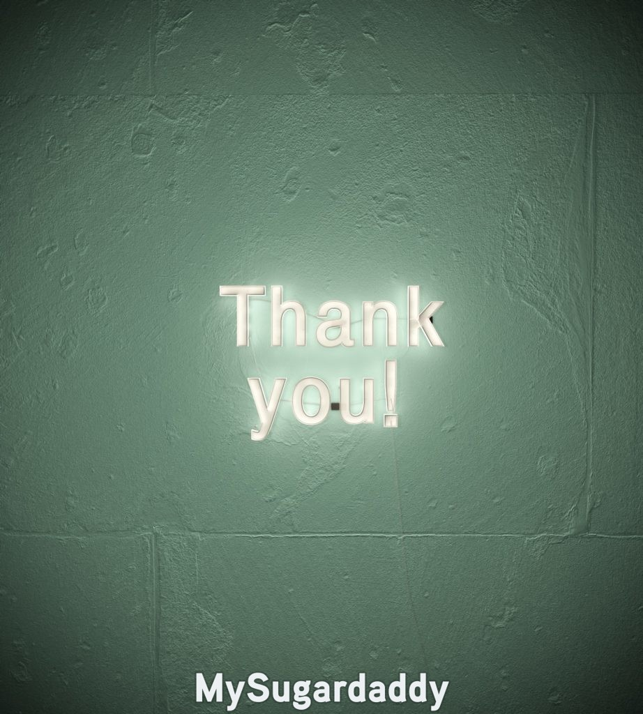 neon sign that reads thank you