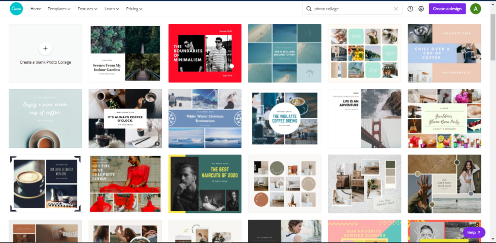 templates of printable vision boards found on canva