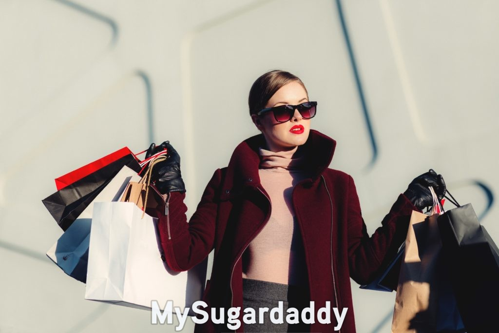 sugar baby tiktok showing off after shopping spree